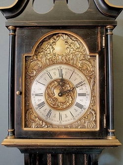 Wall Clock Colonial Mfg Co Chime 3 Weight Brass Face