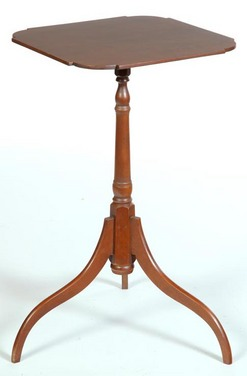 A 20th Century Maple Candlestand On Spider Legs, By Eldred Wheeler,  Massachusetts; Image Credit On Full Record.