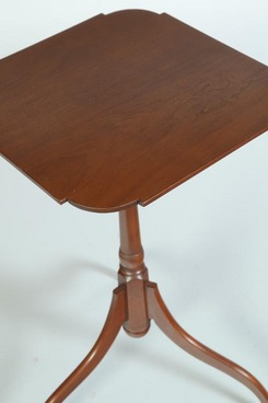 A Contemporary Candlestand By Eldred Wheeler, The Square Top With Shaped  Corners; Image Credit On Full Record.
