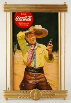 Coca Cola Sign Delicious Amp Refreshing Cowboy Cardboard