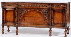 A Rococo Revival Style Sideboard Made By The Batesville Cabinet Company,  Batesville, Indiana, Early 20th Century; Image Credit On Full Record.