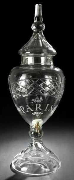 Apothecary Jar Cut Glass Lid Amp Spigot Paris Lattice