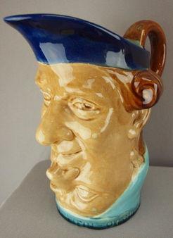 Majolica Pottery; Sarreguemines, Pitcher No 2313, Double