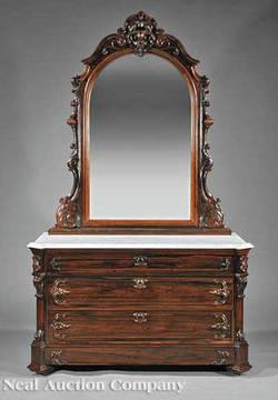 Furniture Dresser Victorian Rococo Revival Galusha