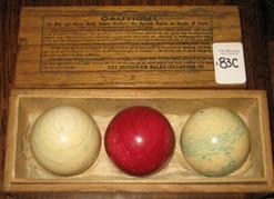 Billiards Pool Balls Brunswick Zanzibar Ivory 3 Red