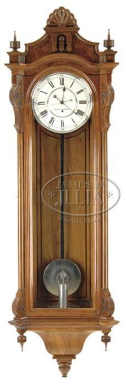 Regulator clock seth thomas no 16 walnut wall 77 inch for Seth thomas wall clocks value