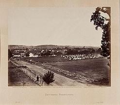 Timothy O'Sullivan albumen photograph, Gettysburg, Pennsylvania, albumen photograph