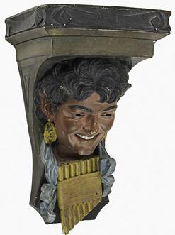 Art Pottery Ott Amp Brewer Broome Isaac Bracket Faun