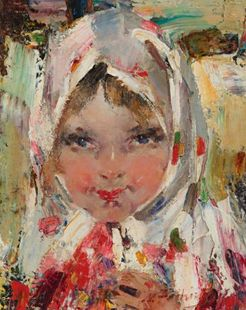 Fechin nicolai ivanovich oil on canvas painting signed for Nicolai fechin paintings for sale