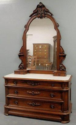 Furniture Dresser Victorian Renaissance Revival Walnut