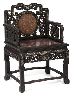 Furniture chair arm chinese hardwood mother of pearl for Chinese furniture for sale in south africa