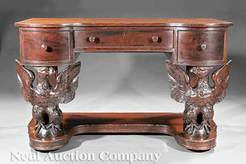 Superieur An Antique American Carved Mahogany Kneehole Desk, Late 19th/early 20th  Century, Potthast Brothers, Baltimore; Image Credit On Full Record.