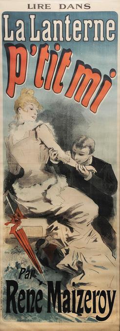cheret jules lithograph poster signed in stone 1888 la lanterne p 39 tit mi par rene. Black Bedroom Furniture Sets. Home Design Ideas