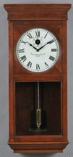 Wall Clock Self Winding Clock Co Master Clock Birch