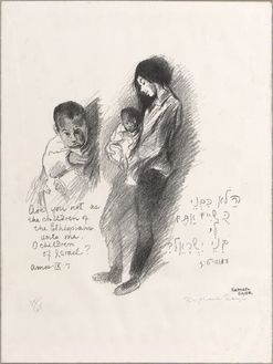 Soyer, Raphael; Lithograph, signed, Mother & Child ...
