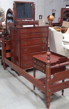 Furniture Suite Bedroom Willett Cherry 5 Pieces
