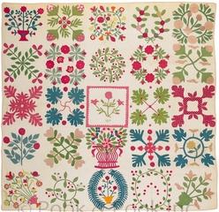 A Baltimore applique album quilt, dated 1855