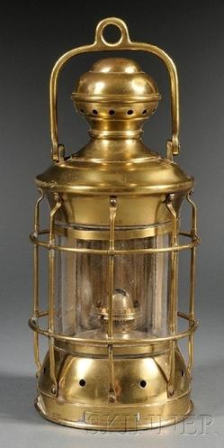 Lantern Perkins Marine Ship S Brass Clear Globe