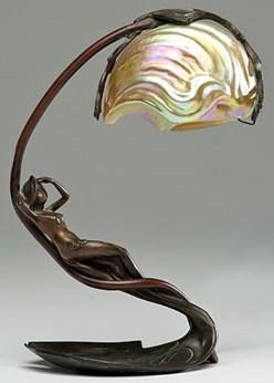 Table Lamp French Art Nouveau Bonnefond C Nautilus