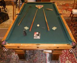 Pool Table Brunswick Four Part Slate Square Legs Accessories - Pool table side panels