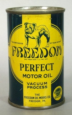 Tin Bank Freedom Perfect Motor Oil Oil Can