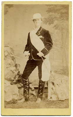 "Carte de Visite [photograph] of ""Weston the Walker"" (Edward Payson Weston). Known primarily for his long distance walking."