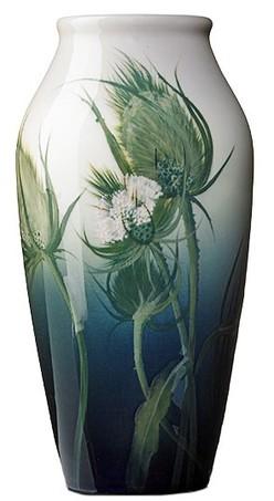 Rookwood Pottery; Wareham (John D), Vase, Iris (Thistle), 12 inch.